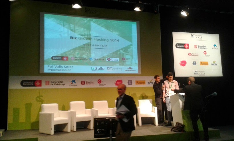 Fira BizBarcelona 2014 ponencia de Growth Hacking