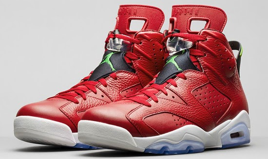 on sale fcc08 cefb6 Air Jordan 6 Retro Spiz ike Varsity Red Classic Green-Black-White Release  Reminder