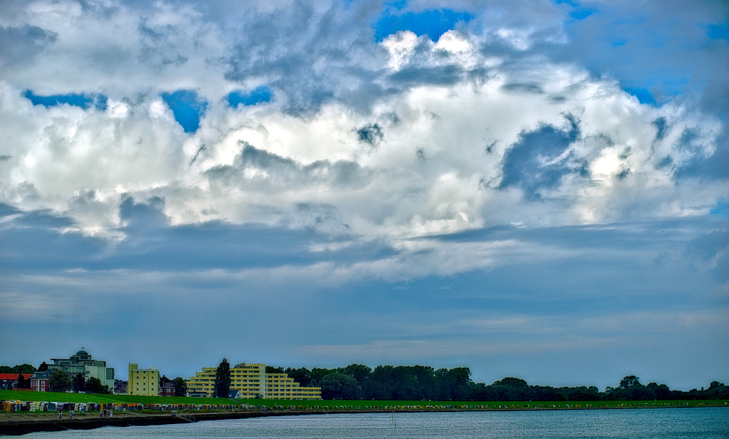 Skywatch Friday  -  Green beach at Cuxhaven (Germany)