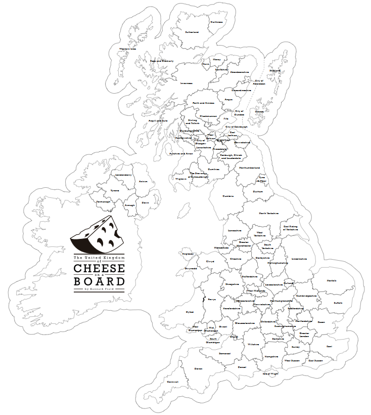 Cartonerd The United Kingdom Of Cheese On A Board