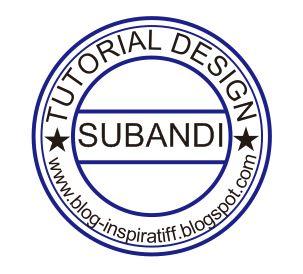 Desain Stempel Kreasi Subandi dengan Coreldraw X6