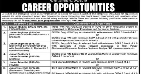 Atomic Energy Jobs 2019 | PAEC Jobs 2019 Latest Advertisement