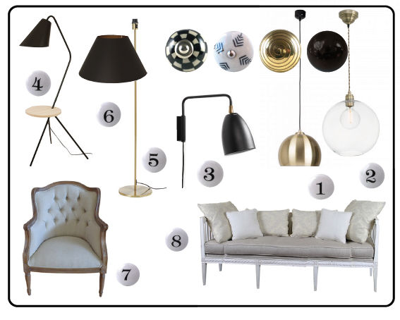 boutons de meubles, bouton de tiroir