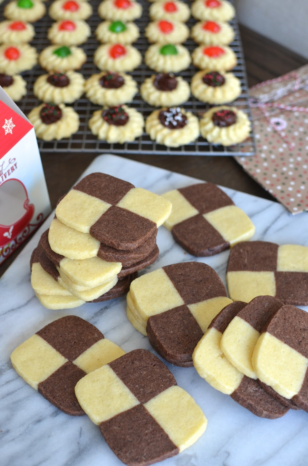 Playing With Flour Checkerboard Icebox Cookies