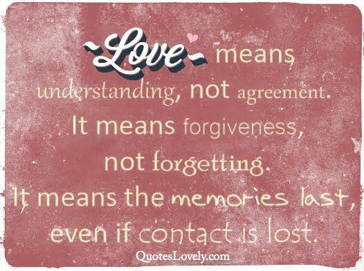 Love means understanding