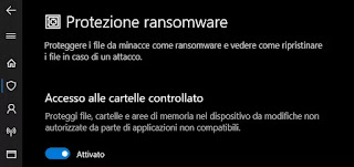 protezione ransomware Windows Defender