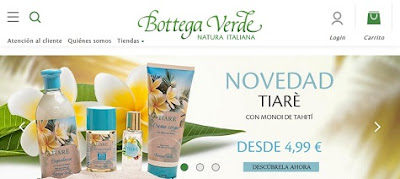 Productos cosméticos Bottega Verde
