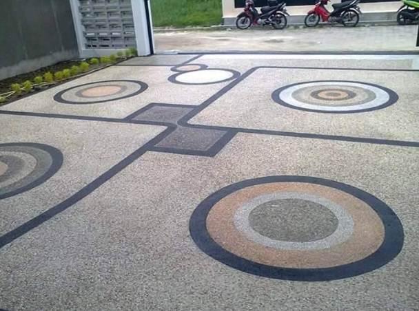 Carport Depan Rumah Minimalis Type 30 Batu koral