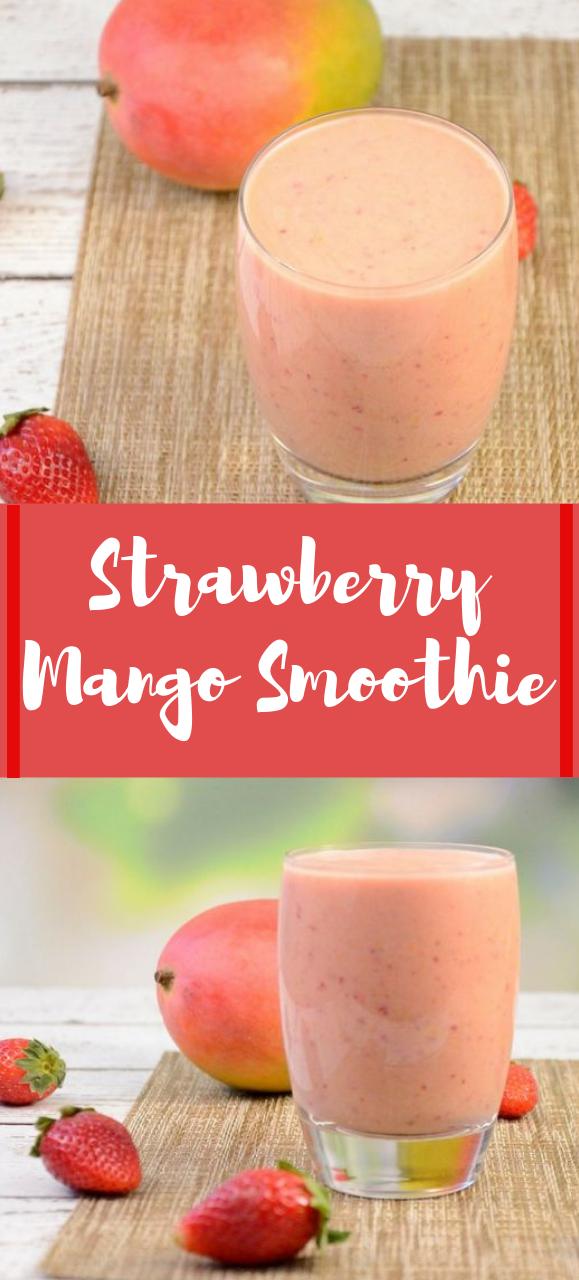Strawberry Mango Smoothie #smoothie #drink