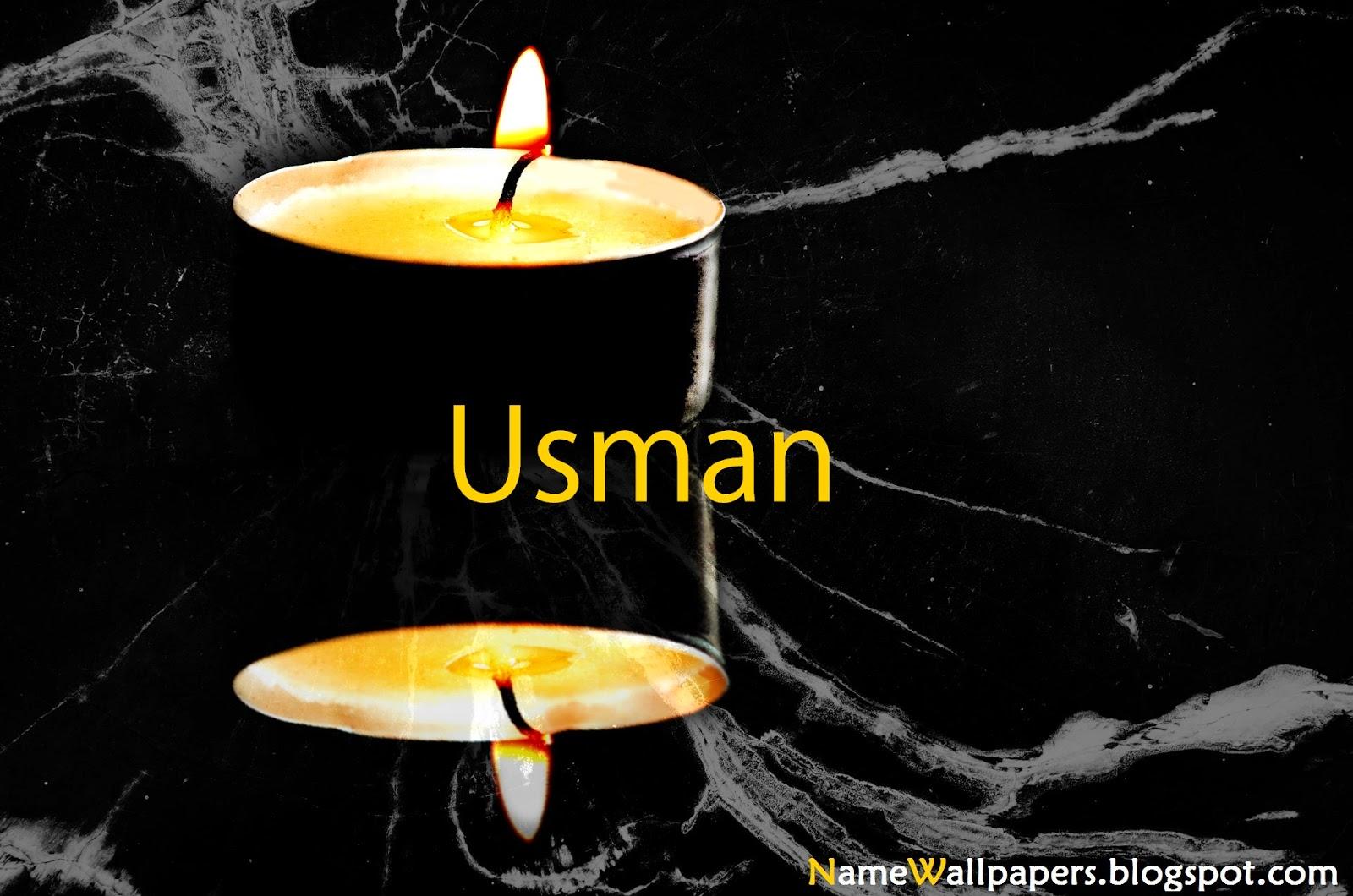 3d Name Wallpapers Usman Czarny Mazak