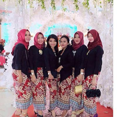 Model Baju Batik Kebaya Muslim motif kawung blouse kutubaru