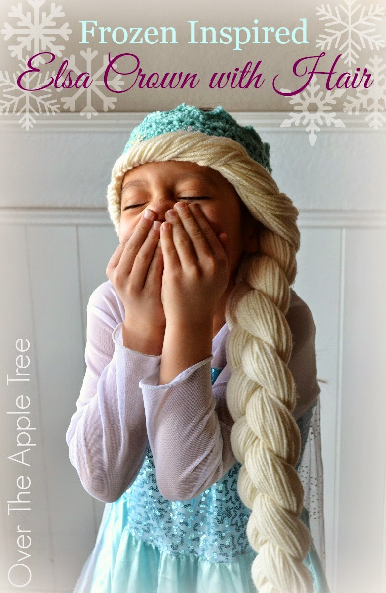 Crochet Elsa Crown With Hair, free pattern  data-recalc-dims=