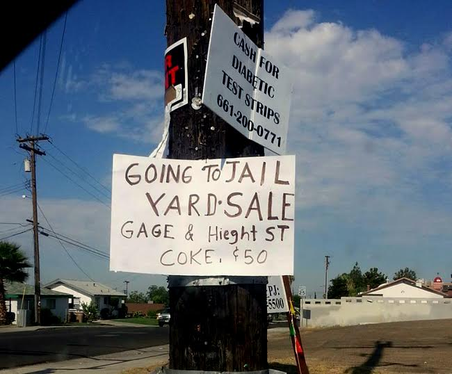 YARD SALE-SIGN-OF-THE-WEEK: Maybe you shouldn't sell Coke