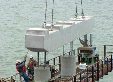 Precast Rigid Cap for Deep Foundation Sunk in Sea