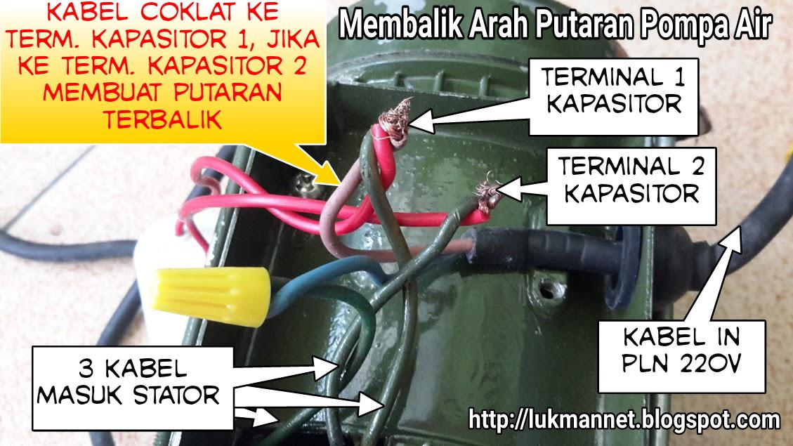 Lukman Arif Wijaya Membalik Arah Putaran Pompa Air