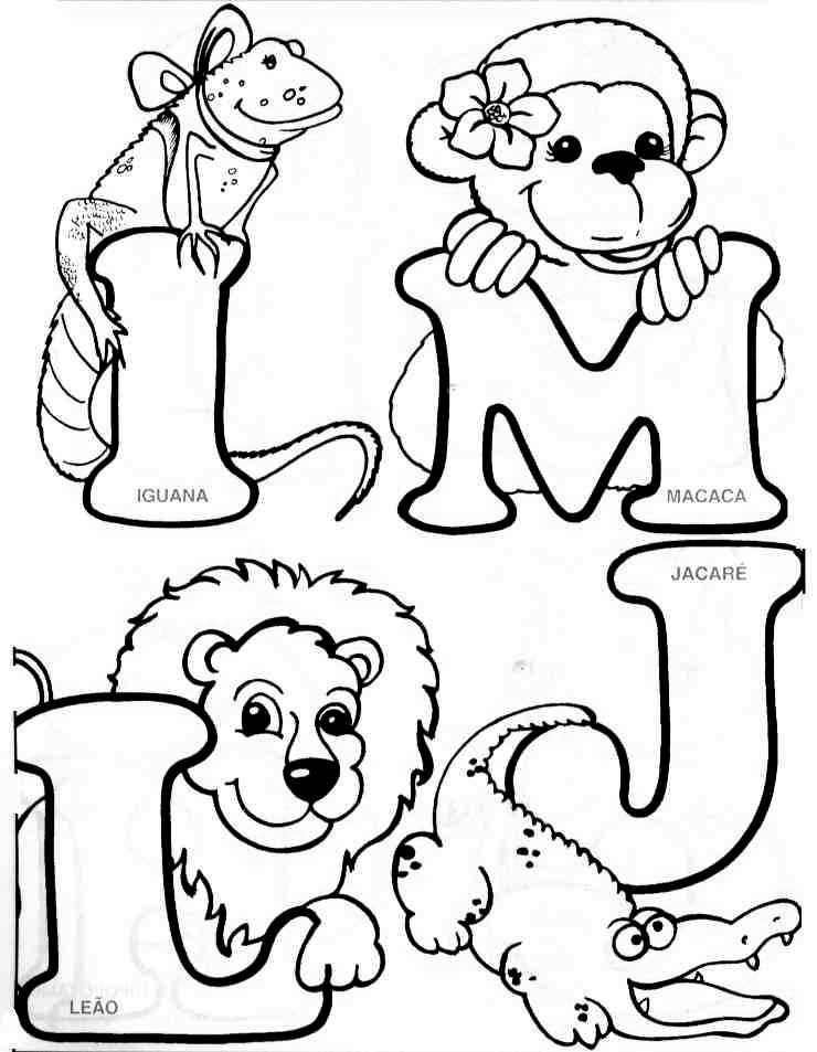 Asombroso Alfabeto Animal Para Colorear Páginas Imprimibles ...