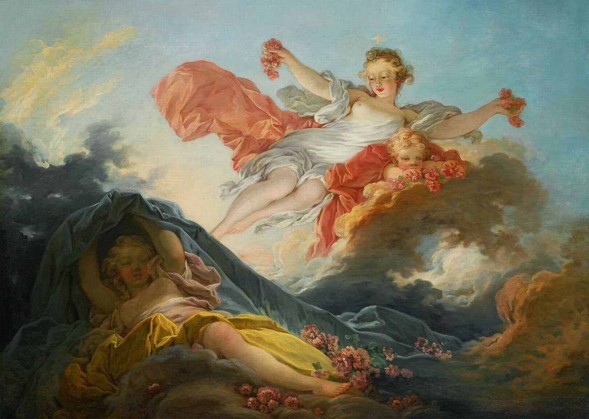 Goddess Aurora Triumphing over Night Fragonard, Jean-Honoré, French, 1755-56 Private collection, image courtesy Web Gallery of Art