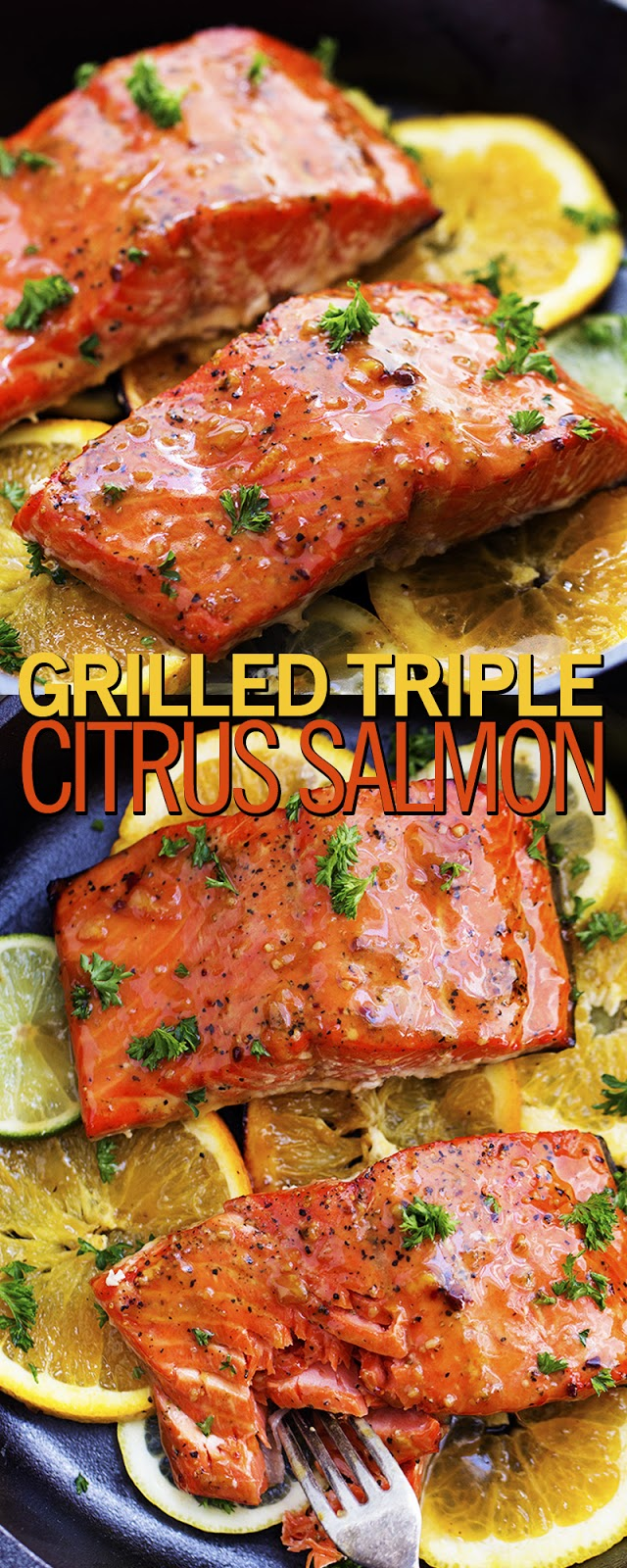 GRILLED TRIPLE CITRUS SALMON