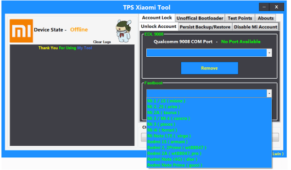 Tps Xiaomi Tool For Unlock Account And More (Working 100%)