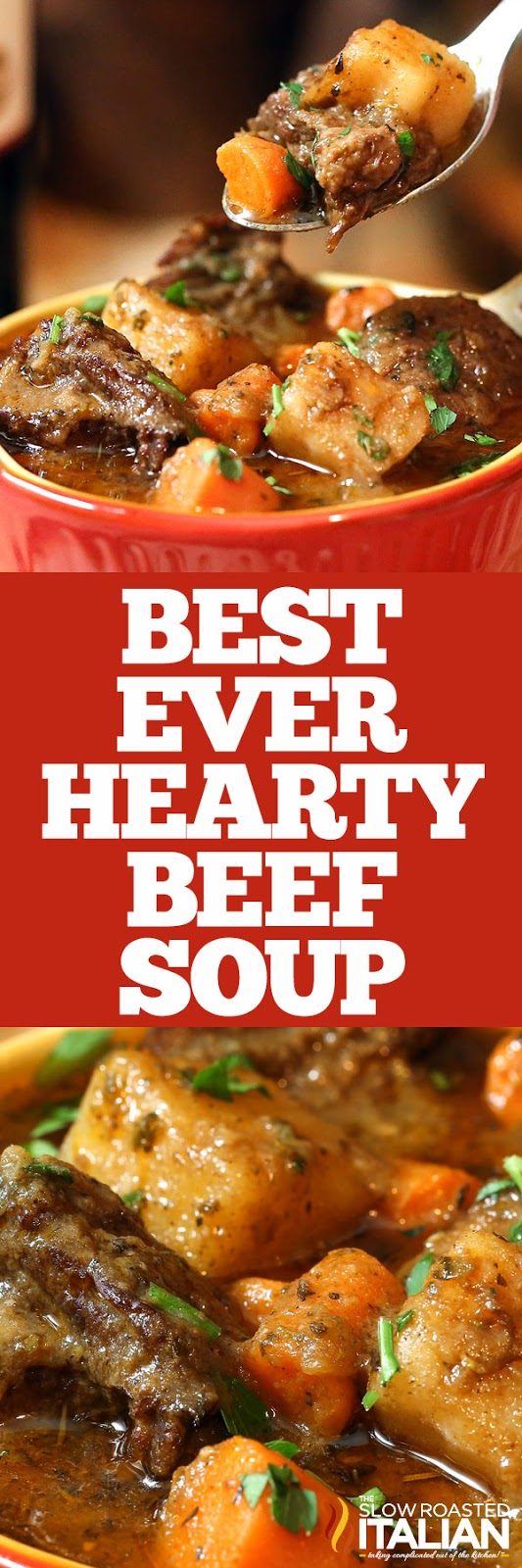 titled image (and shown): best ever vegetable beef soup recipe