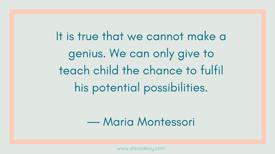Montessori quote, metode montessori