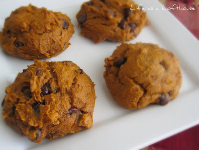 Delicious and soft Pumpkin Chocolate Chip Cookies that are made with only 3 ingredients. Life-in-the-Lofthouse.com