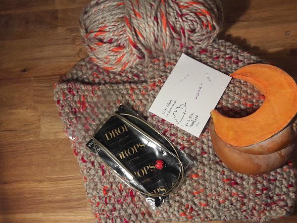 Automne, citrouille, tricot