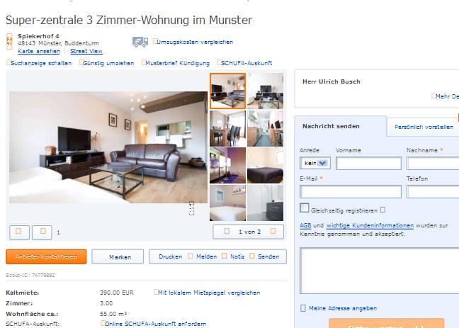 Zimmer Wohnung Munster