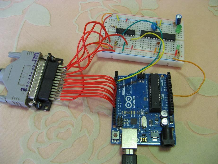 Junk + Arduino =: SVG image plotter