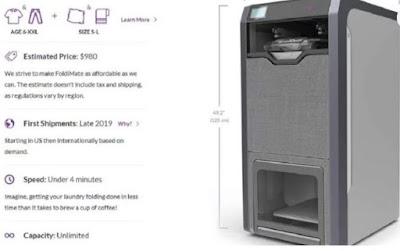 La máquina que plancha, dobla y perfuma la ropa en cinco segundos