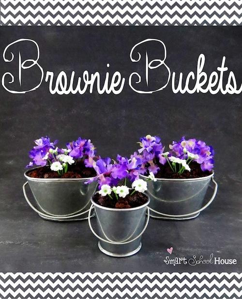 Brownie Buckets #diy #spring #dessert #brownie