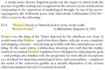 "Excerpt from ""Graffiti in Antiquity,"" by Peter Keegan."