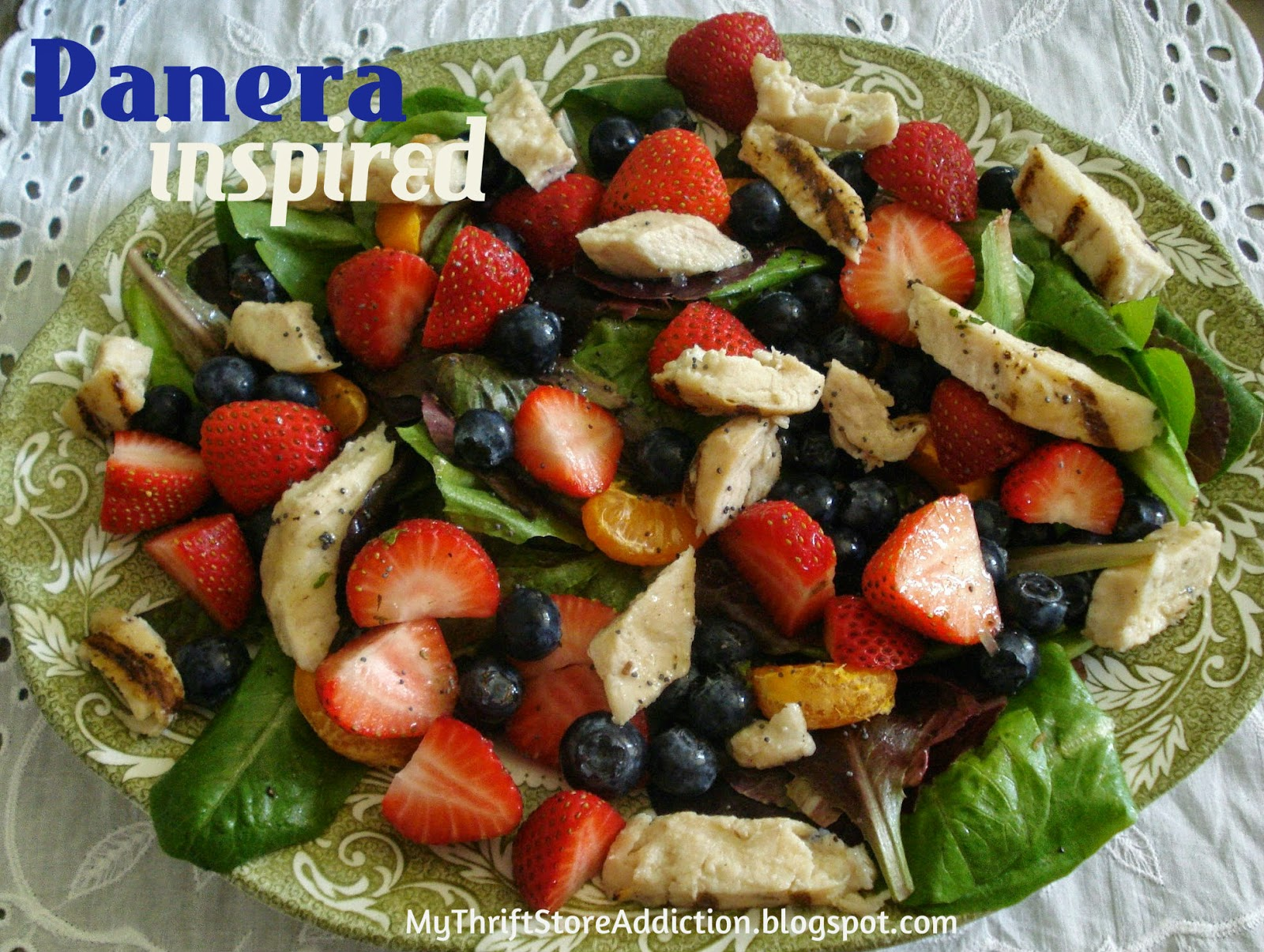 Panera inspired strawberry poppy seed and chicken salad