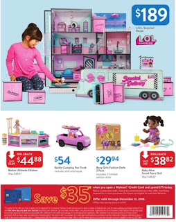 Walmart Weekly Ad Holiday Toy Sale November 30 - December 15, 2018