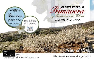 OFERTA Cerezo en Flor 2016. Valle del Jerte