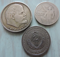 soviet russian rouble coins cccp