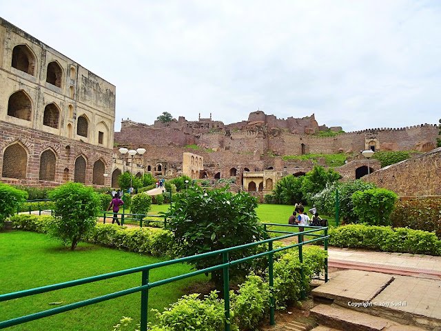 Golkonda Fort view from the Entrance Gate , Hyderabad