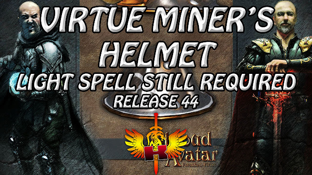 Virtue Miner's Helmet, Light Spell Required • Shroud of the Avatar Release 44