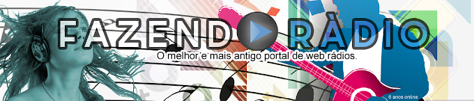 Banner topo editável para WEB RÁDIO