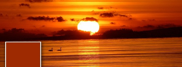 Facebook Cover Photo Ocean Red Sunset