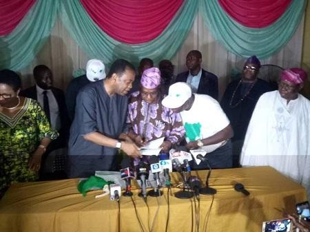 Obasanjo Registers as Coalition for Nigeria In ABeokuta