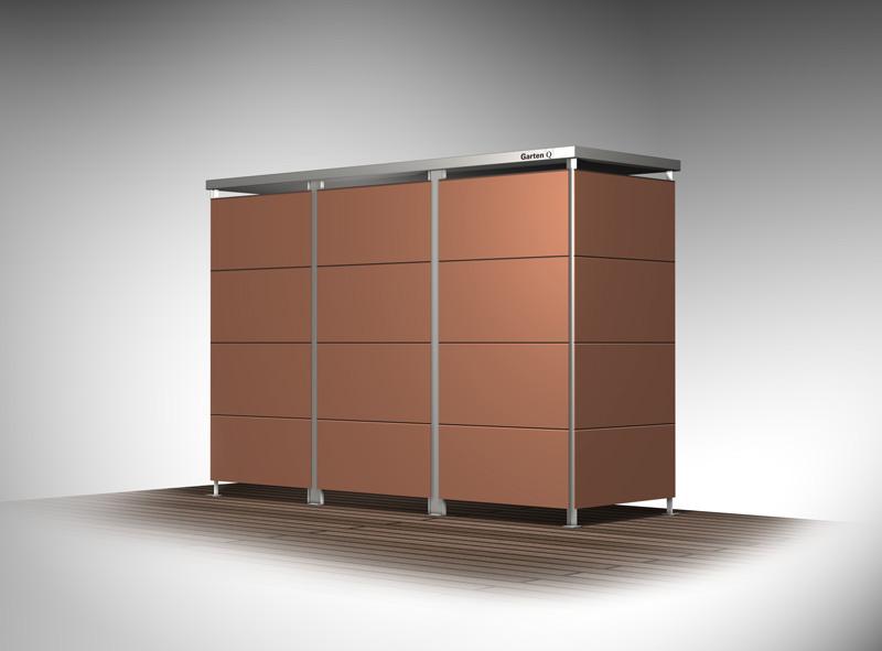 garten q moderne gartenh user gartenschr nke m llboxen und unterst nde m llboxen von. Black Bedroom Furniture Sets. Home Design Ideas