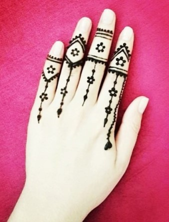 Gambar Henna Tangan Kiri 2