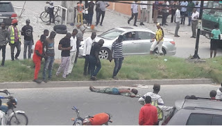 Man Lynched to Death for Allegedly Stealing Laptop in Lekki ( Photos )