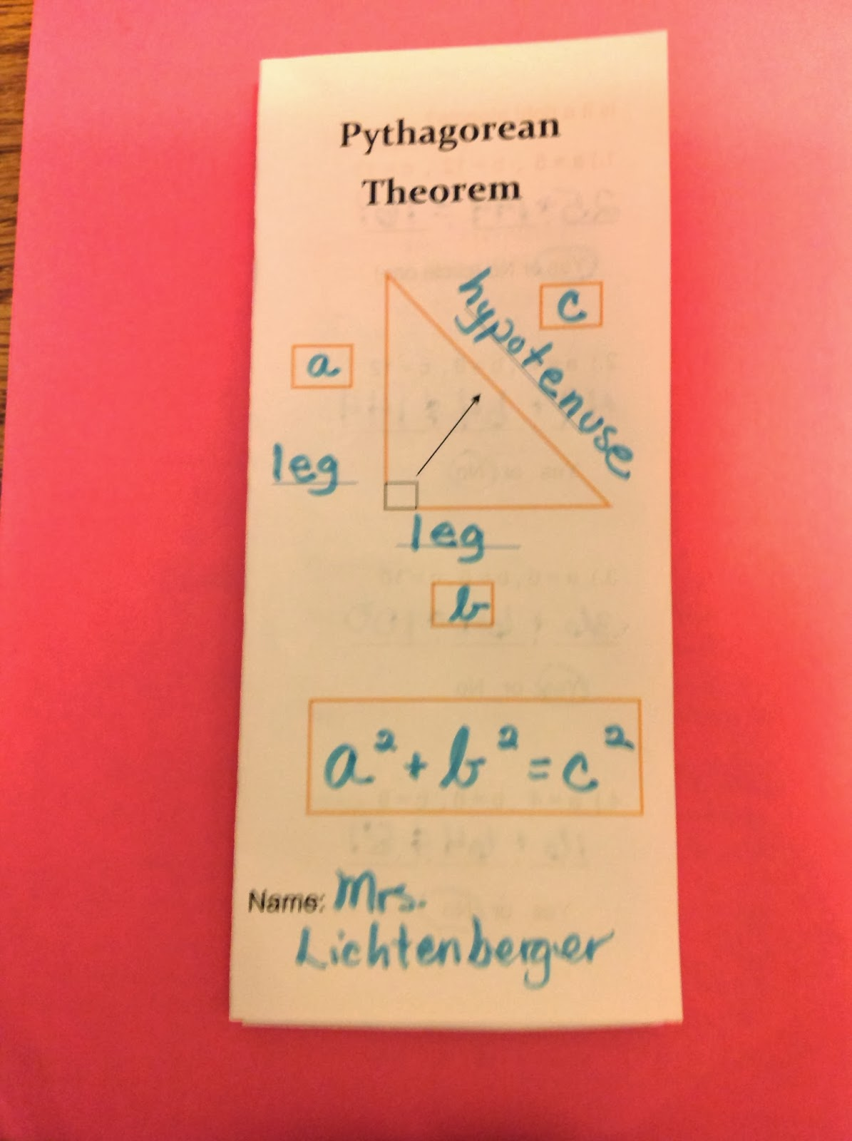 equation freak a peek at my pythagorean theorem unit pythagorean theorem foldable