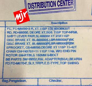 SPEC LENGKAP Groupset Shimano Deore XT 3x11 Speed