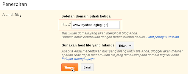Cara Membuat Blog Dengan Top Level Domain Gratis Dari Freenom