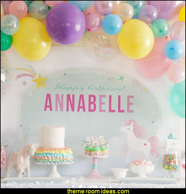 Balloon Garland Kit - Unicorn Rainbow  unicorn party supplies - rainbow unicorn party decorations - unicorn birthday party - Unicorn Themed Party -  Unicorn Balloons  -  unicorrn cupcakes - rainbow decorations - Unicorn  Garlands - sequin tablecloth - tutu table skirt -