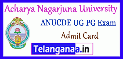 ANUCDE Acharya Nagarjuna University Center for Distance Education Admit Card