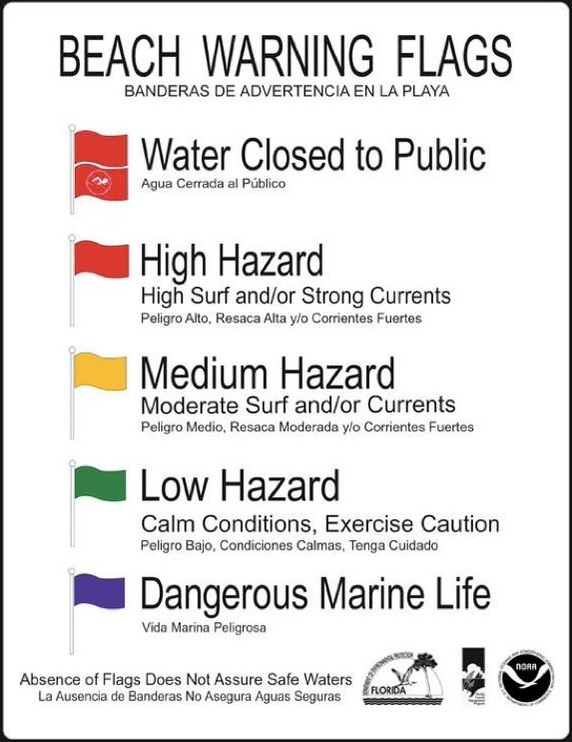 Lifeguard Beach Warning Flags Meaning